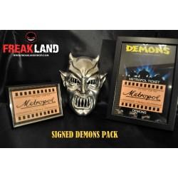 Demons movie mask signed